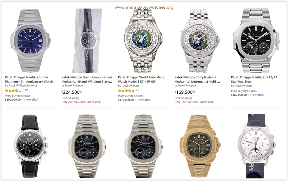 Luxury Lifestyle Advice: Patek Philippe Men's Watches price list 2019