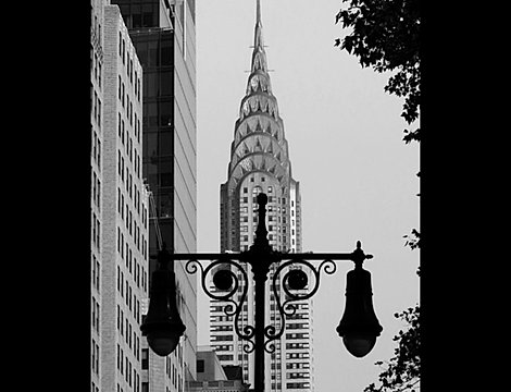 chryser building lamp bnw