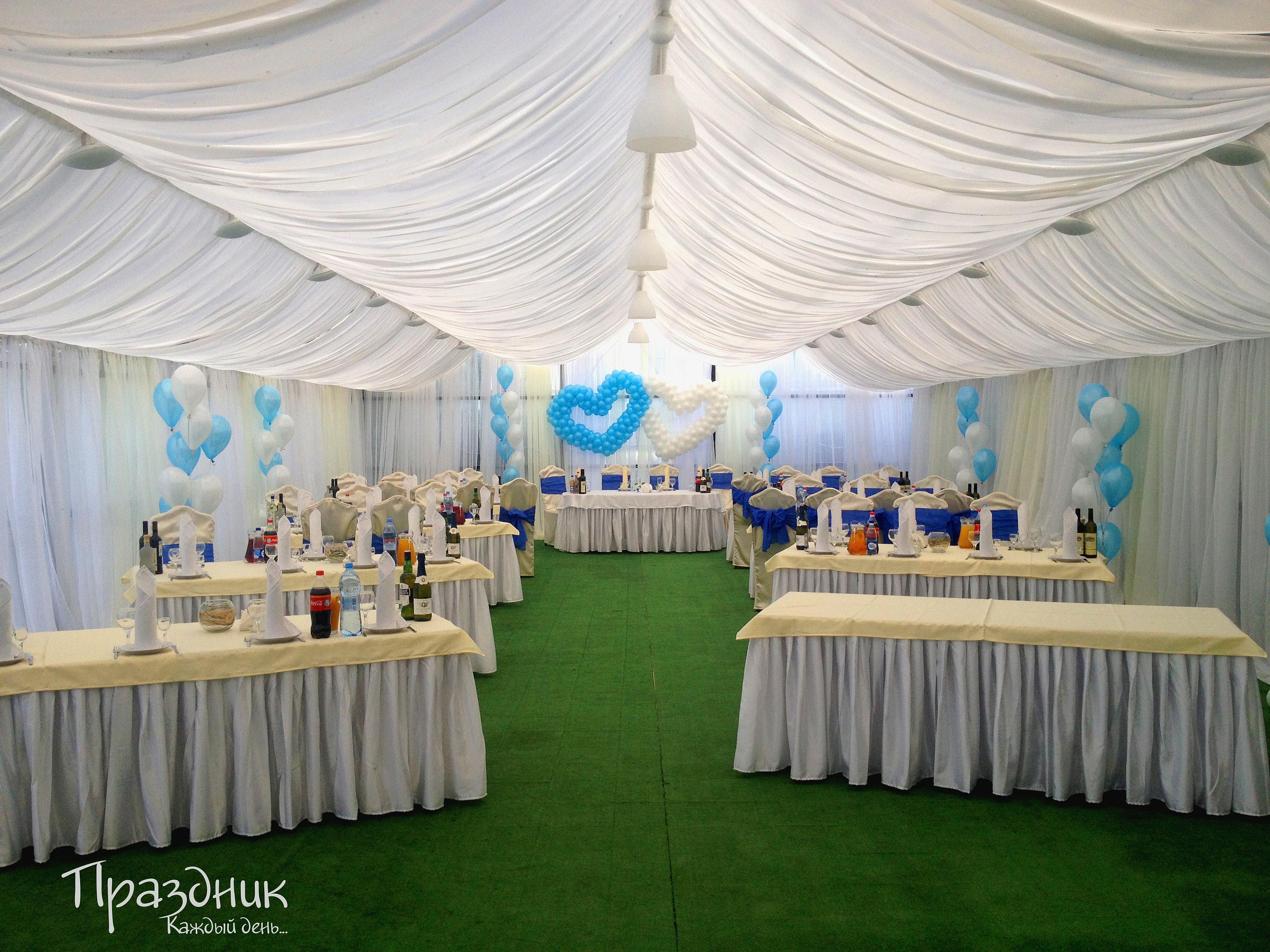 Небесно голубая свадьба фото