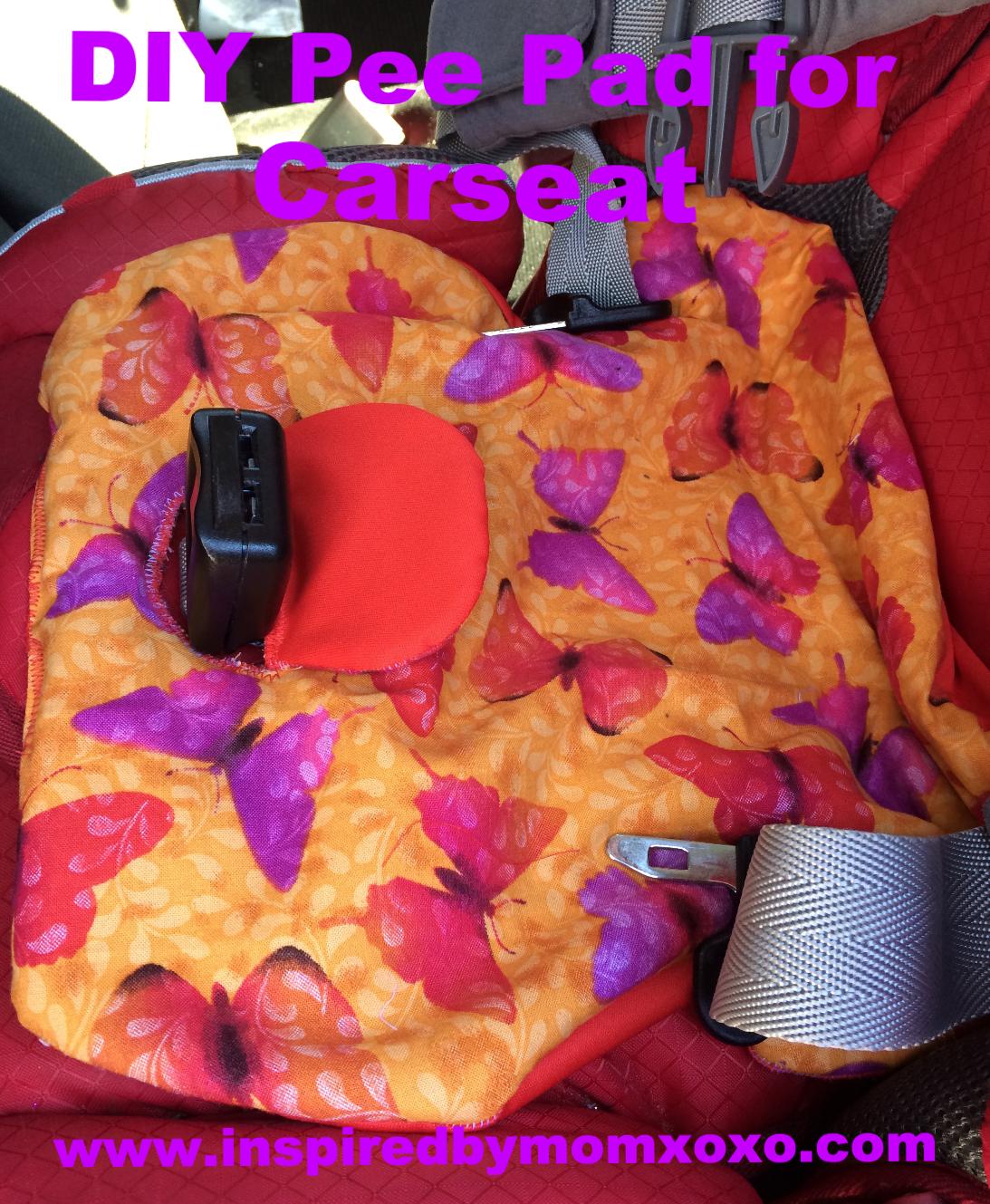 Tutorial Potty Training Car Seat Pee Pad