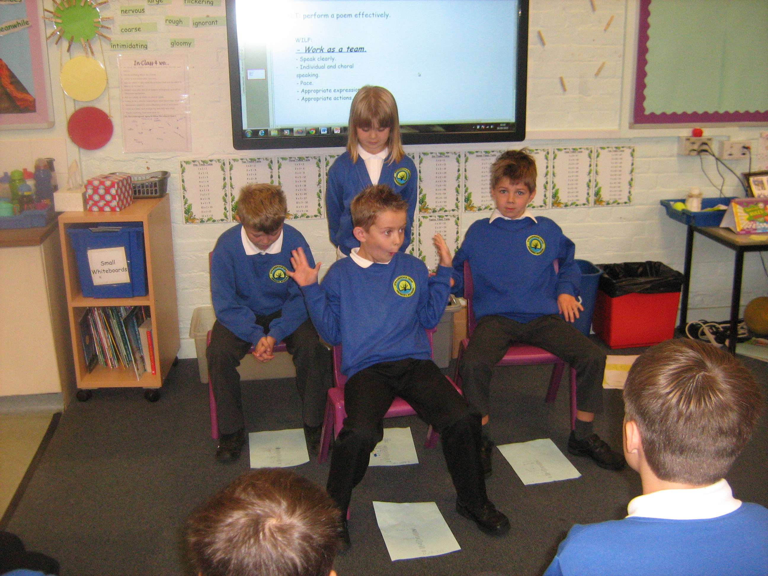Performing our Poems based on The Arrival