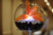 Fish bowl centrepiece