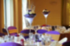 Purple centrepiece