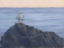 11396 Desley Stewart Seagull on Rock_FF_