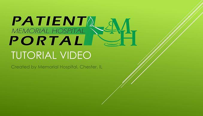 Patient Portal Tutorial