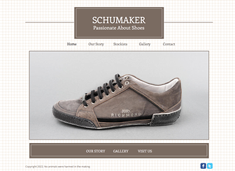 Shoe Store Template - A minimalist template that grants center stage to your retail products. Tell the story of your brand, create a photo gallery of sale items, and direct customers to your stockists. Start editing to reach new customers today!