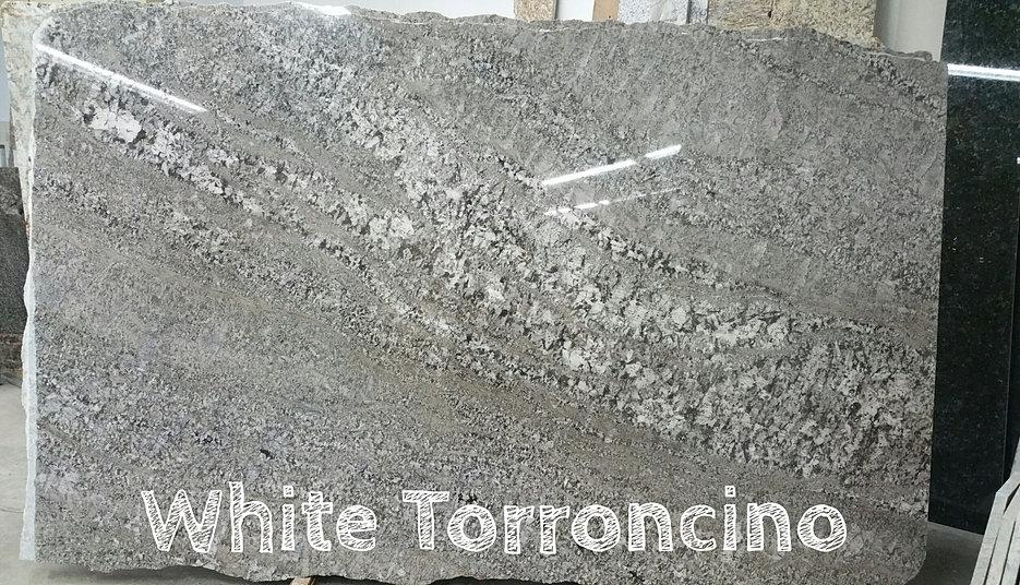 White Torroncino Granite Slab Cincinnati Ohio