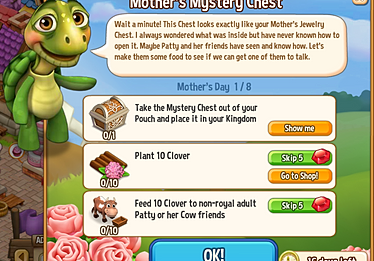 Mother's Mystery Chest Quest 1/8