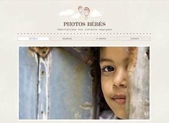 Photographe Enfants Template - Un template craquant, idéal pour un studio photo. Les polices délicates, les couleurs harmonieuses et les illustrations douces s'adaptent parfaitement à votre activité. Téléchargez des images pour partager vos projets et ajoutez du texte pour mettre en valeur vos services et votre talent.