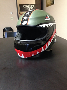 Vehicle Wraps - Vinyl wrap for motorcycle helmets