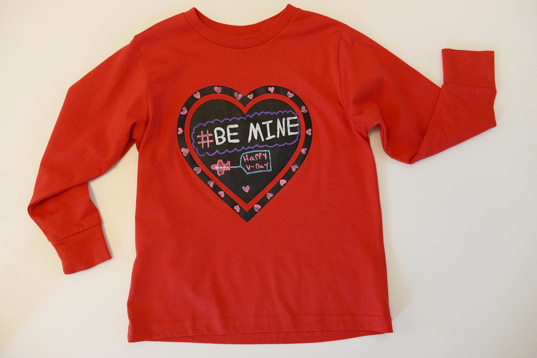Shirt design kit - Chalk Of The Town Reusable T Shirt Design Kit Be Mine