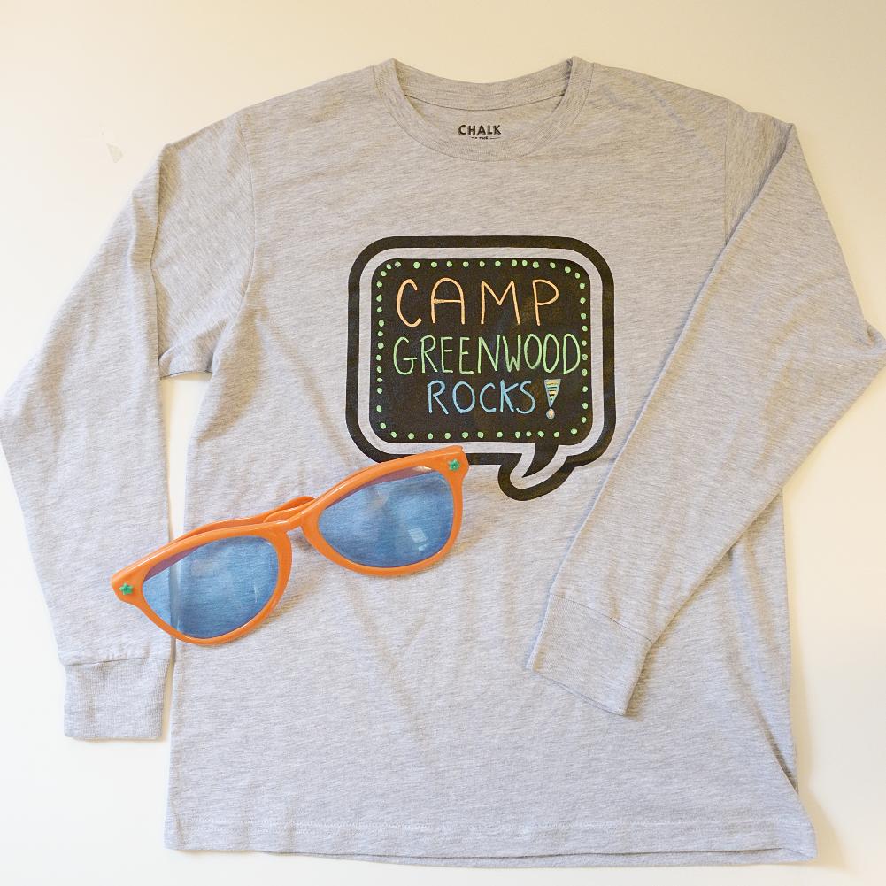Shirt design kit - Chalk Of The Town Reusable T Shirt Design Kit Camp