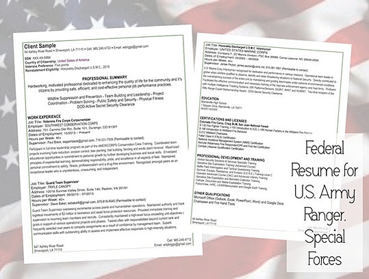 Need a New Federal Resume  Start Here JFC CZ as