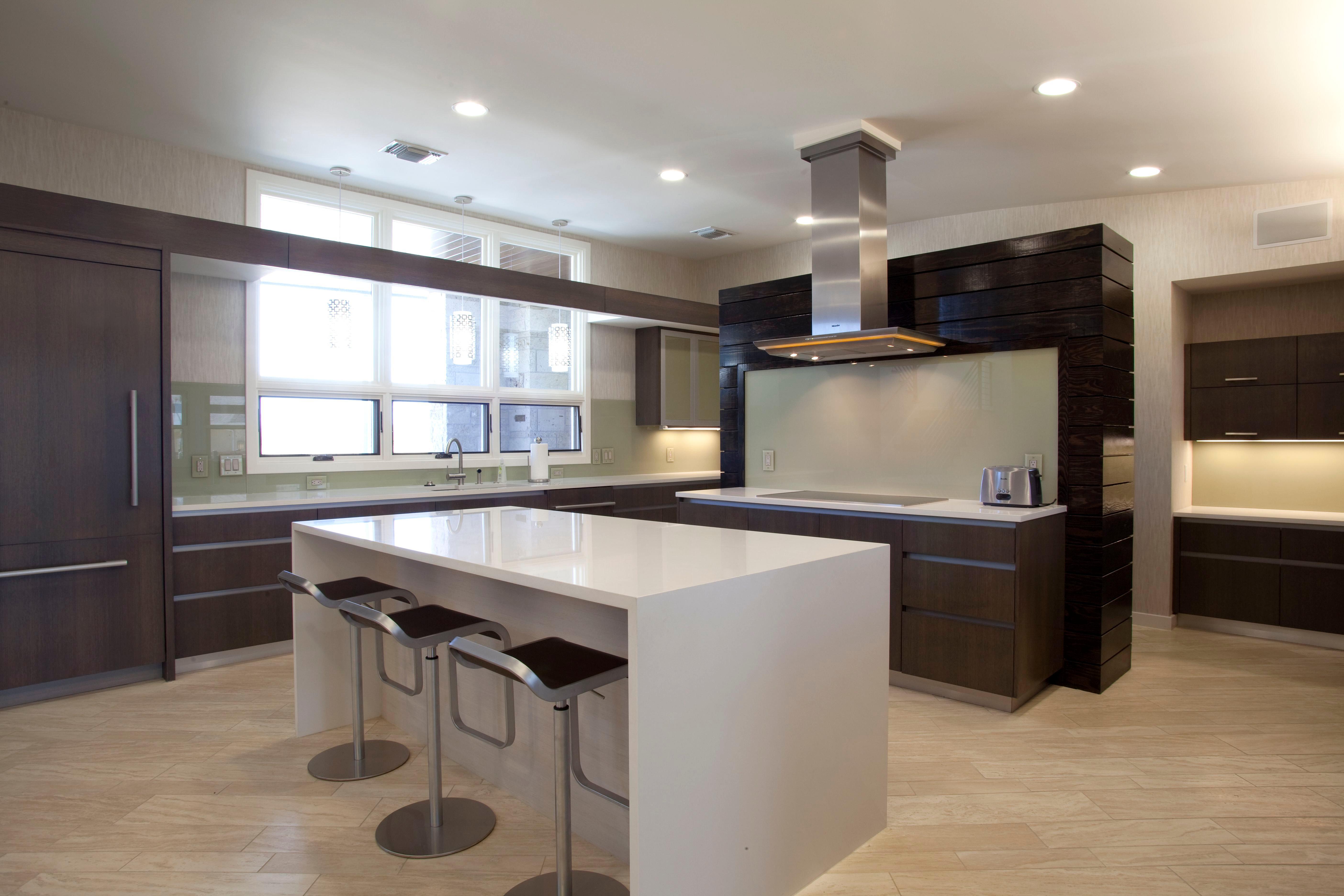 Granite Kitchen Set Hum Stone Factory Modern Kitchen White Quartz Countertops