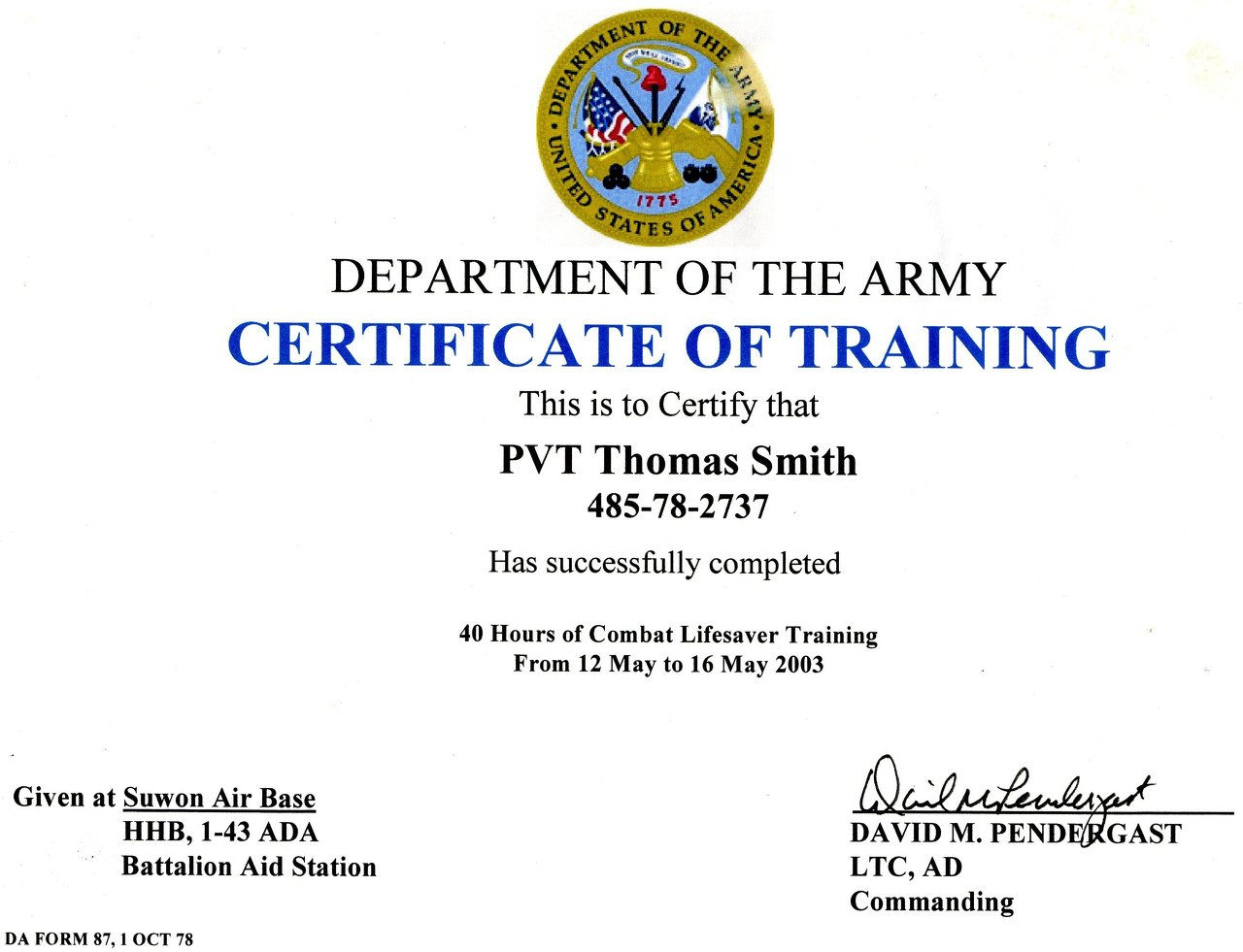 Welcome to the web site of thomas smith wix combat lifesaver course 2003g 1betcityfo Image collections
