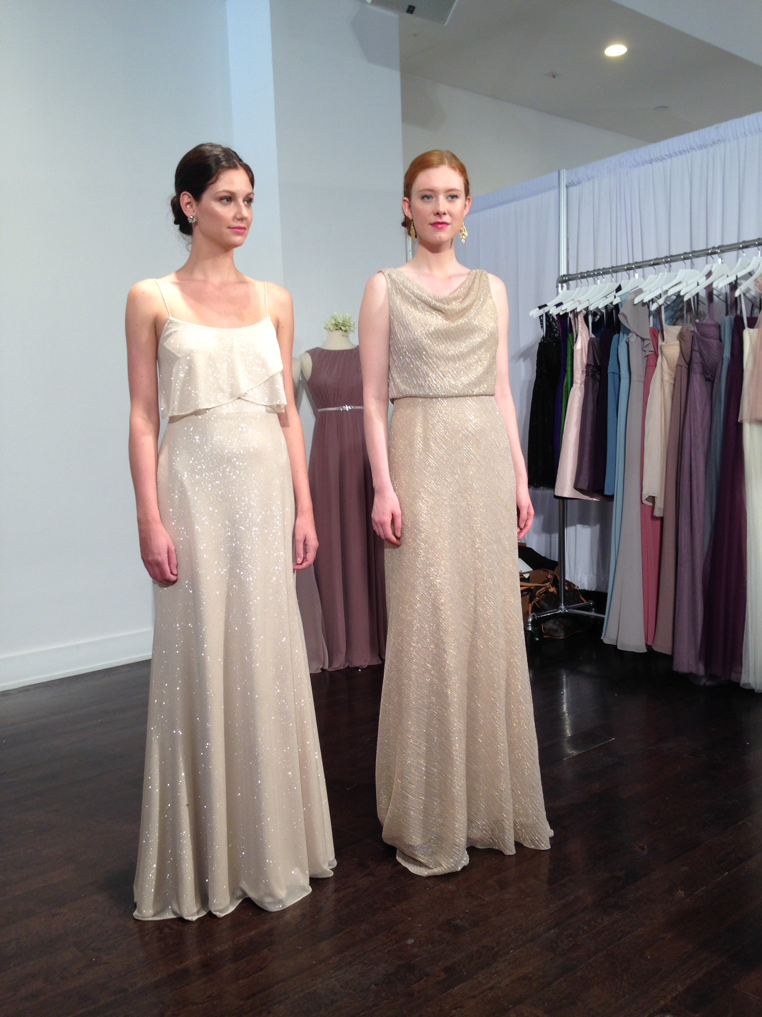 Nyc bridal market 2014 flutter bridal boutique minneapolis gold sparkle does not disappoint bridesmaids dresses from jenny yoo ombrellifo Images