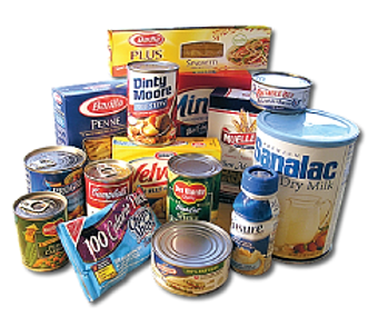Donate food and personal care items