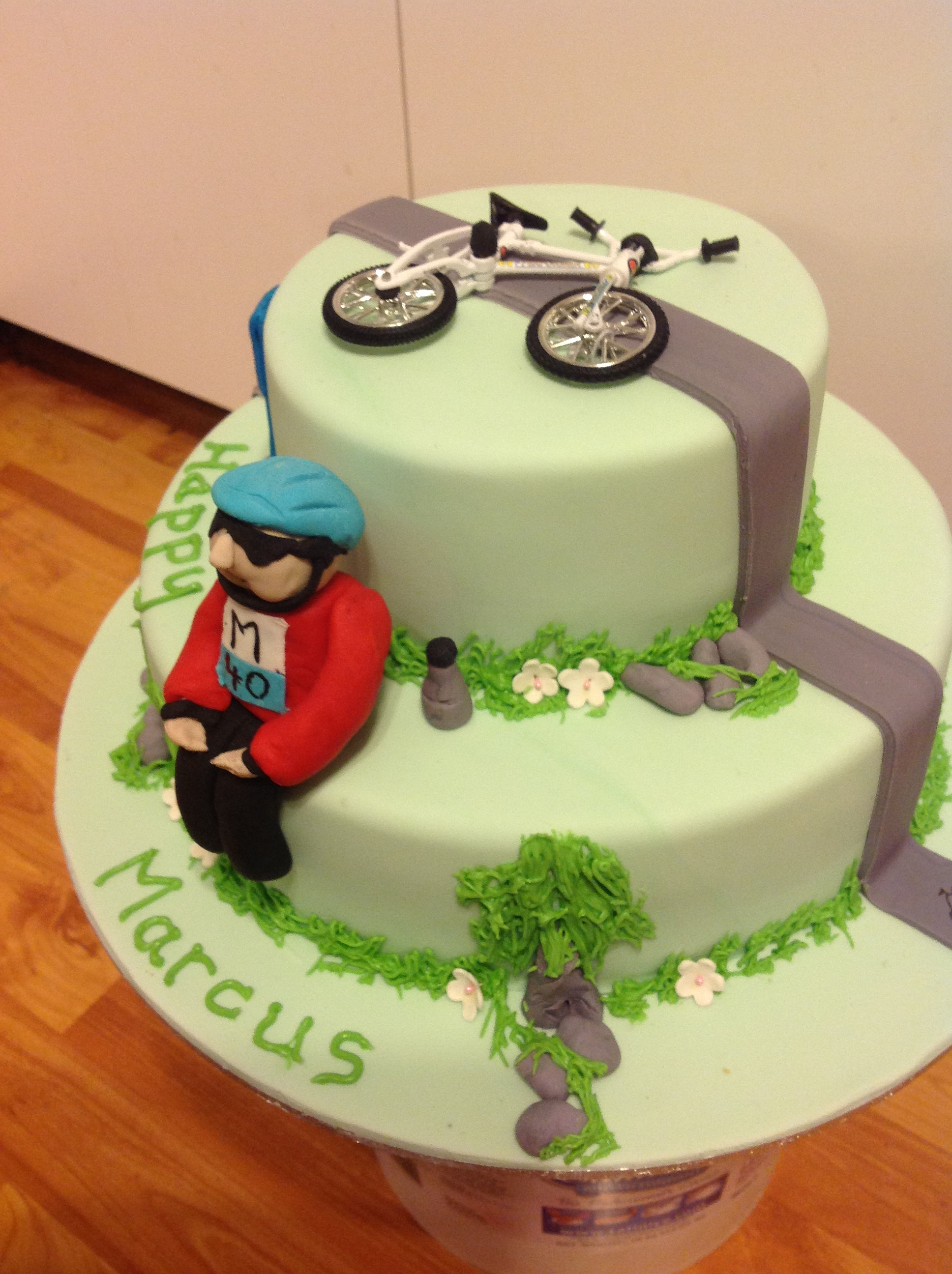 Cycling Cake Decorations
