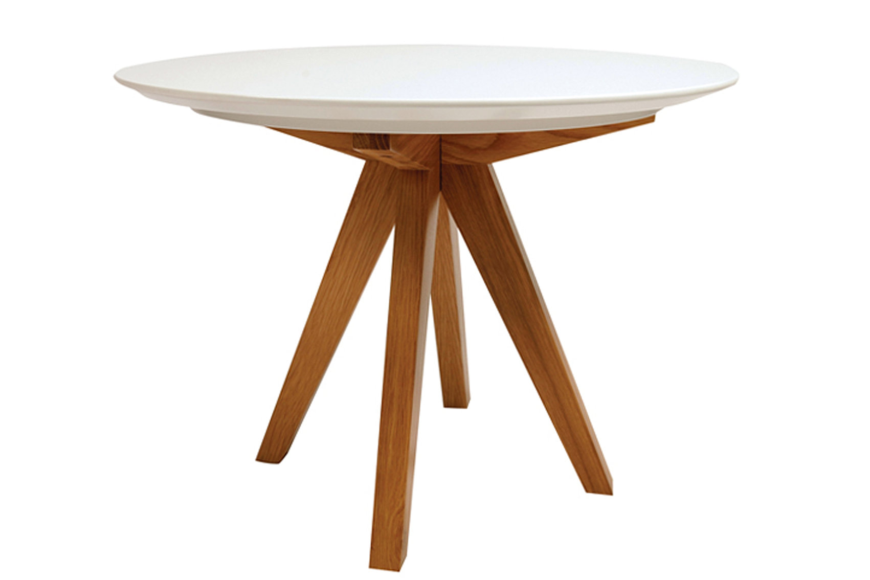 ICON TABLE round lacquer w.oak legs
