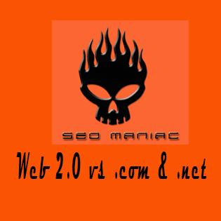 SEO Maniac Web 2.0 vs .com and .net