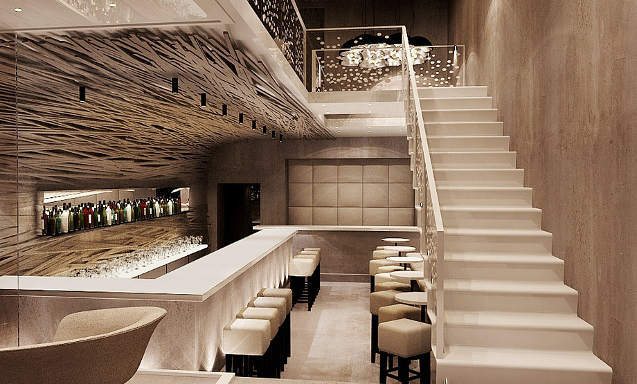 Bubbles Champagne Bar Interior Concept In Nice By Belenko