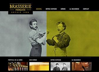Brasserie Template - Lancez votre marque en ligne avec ce template de site web sophistiqué. Présentez vos articles en images et profitez des zones de texte pour raconter l'histoire de votre entreprise. Personnalisez la couleur et le design et créez un site web qui se démarque !