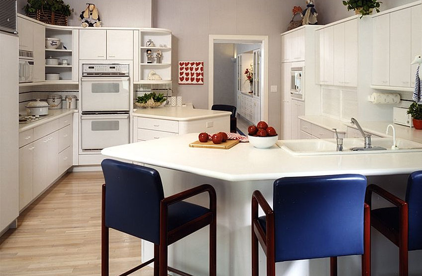 Melamine countertops bstcountertops for Best paint for melamine kitchen cabinets