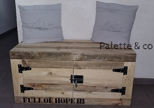 Palette co coffres tabourets et banc - Deco palette et caisse en bois ...