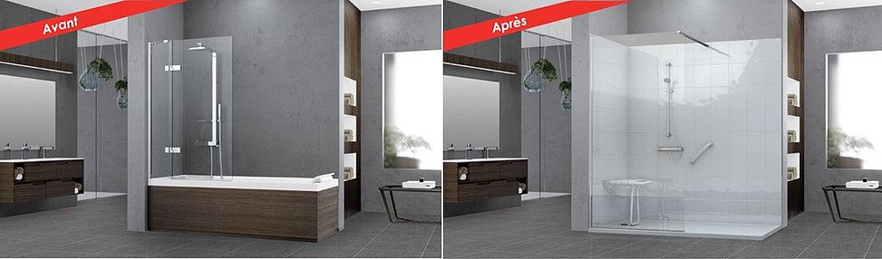 provence salle de bain remplacement de baignoire par. Black Bedroom Furniture Sets. Home Design Ideas