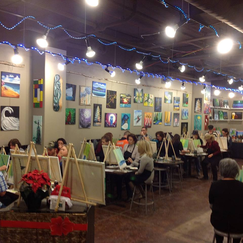 Sipping And Painting Hampden Paint Wine Denver Art