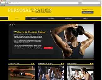 Aprenda a criar um lindo site para Personal Trainer