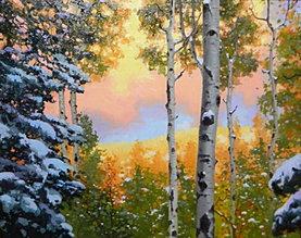 Sunset Santa Fe Mountain