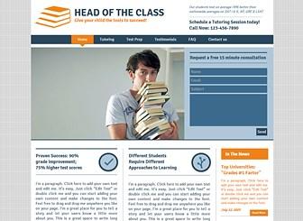 머리짱 선생님의 친절 과외 Template - 스마트한 느낌의 이 템플릿으로 과외 및 가정교사 비즈니스 홍보를 위한 홈페이지를 제작하세요. 공략층에 따라 이미지와 텍스트를 변경하고, 수업 과목 및 프로그램을 소개하세요.