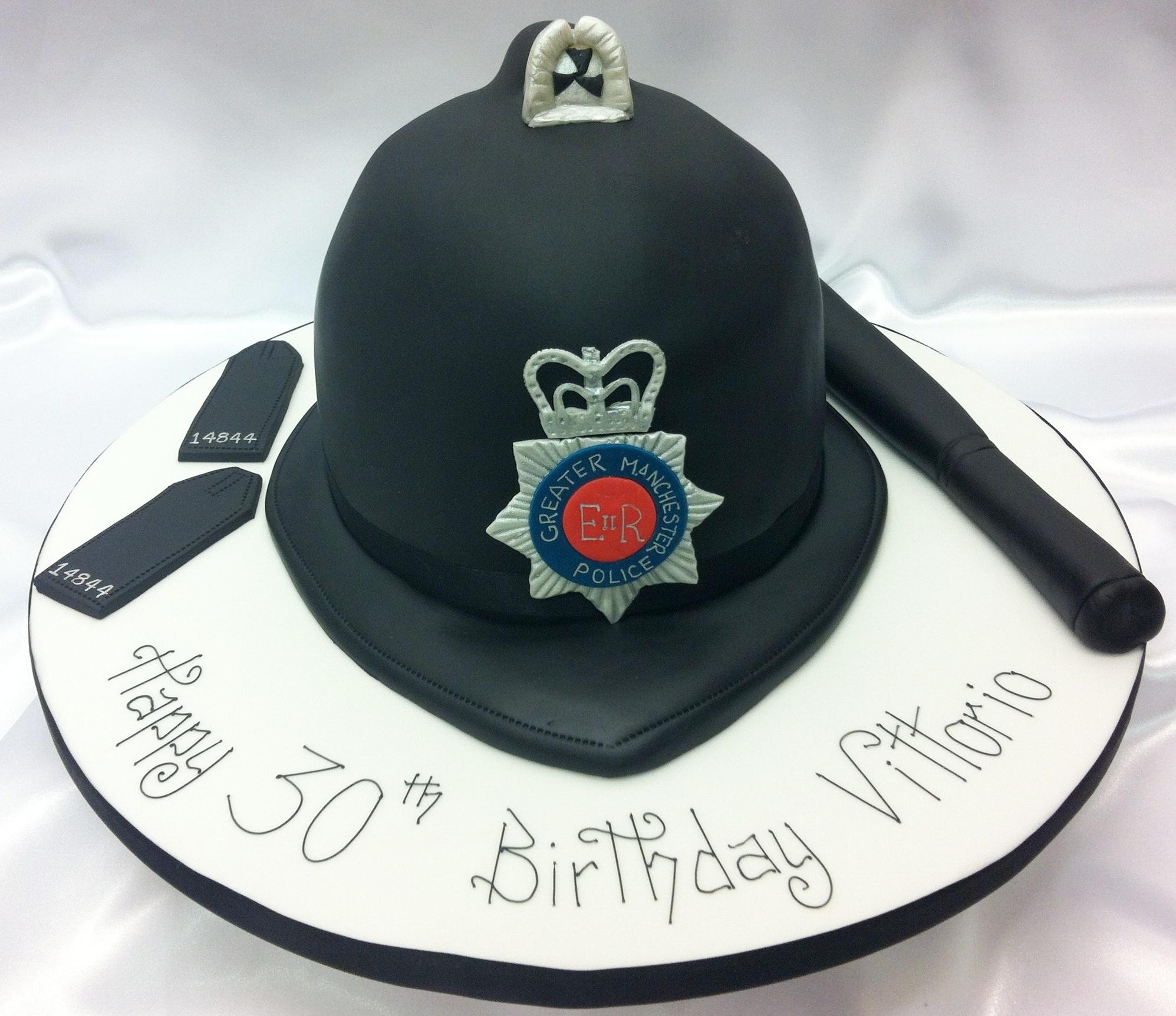Police Helmet Cake