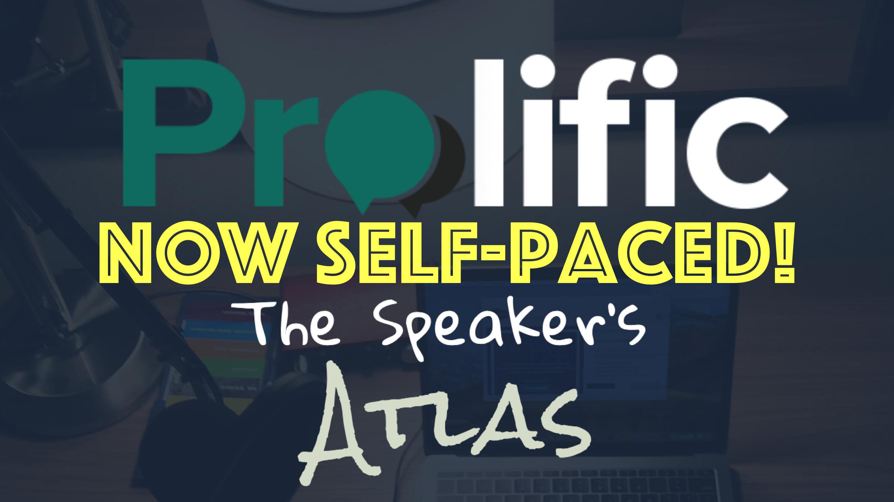 Speaker's Atlas Update!