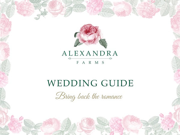 Garden rose wedding guide alexandra farms wedding guide junglespirit Gallery