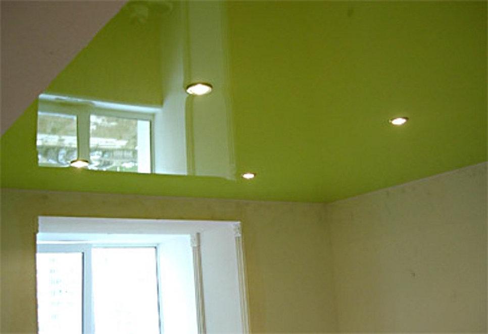 Салатовый потолок фото