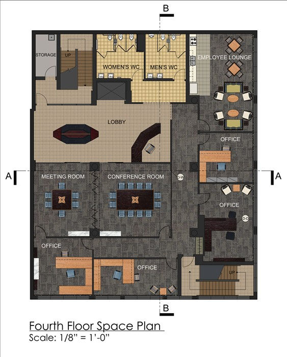 Erm art and design design for Small office floor plan