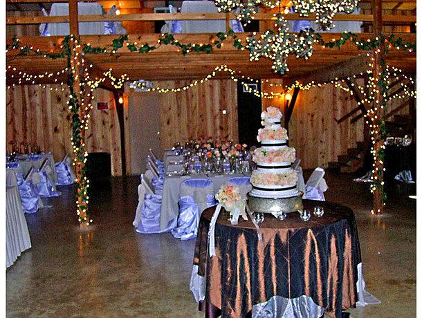 Wedding decor in jack s barn