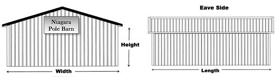 Niagara pole barn cheap pole barn kits for Pole barn dimensions