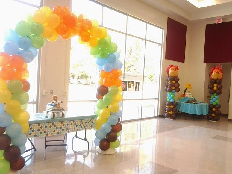 Balloon decoration packages queens salazar entertainment for Balloon decoration packages