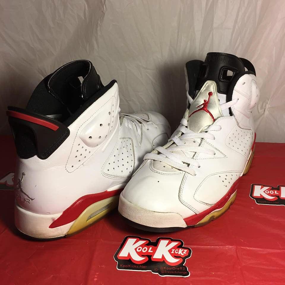 Air Jordan 6 Fac Blanc Rouge Contacts De Faux