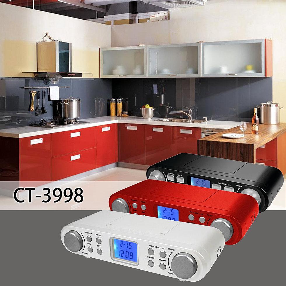 Kengtech kitchen radio ct 3998 for 2 kitchen ct edison nj