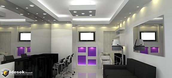 Idesek drywall construcci n en yeso tabiques cenefas for Muebles modernos montevideo