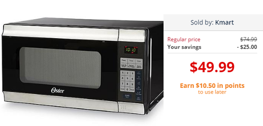 If You Are Looking For A Deal On New Microwave In Luck Kmart Has This Oster Black Stainless Steel 49 99 And When