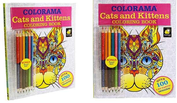 This Coloring Book Looks Cute And Comes With Colored Pencils Get The Colorama Cats Kittens Only 499 On Clearance At Kmart