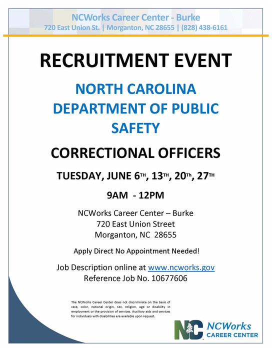 The Nc Department Of Public Safety Is Recruiting Correctional