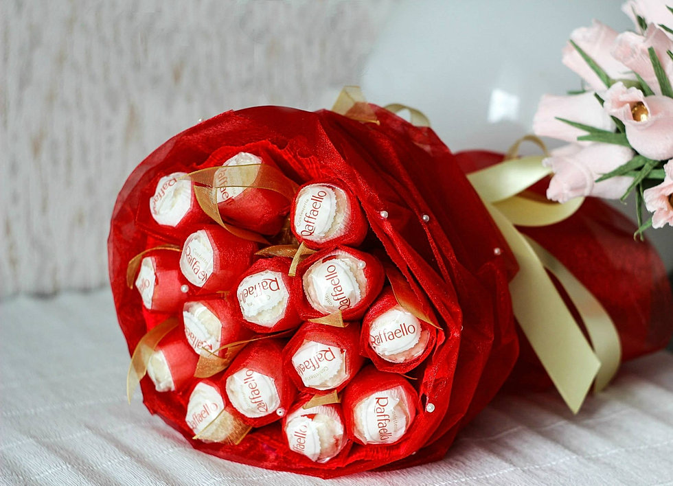 Букет из конфет рафаэлло своими руками с пошаговым фото