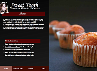 Sweet Biz Template - A Flash Website waiting for your Food and Drink business, with this template you can customize everything from colors to layout to high quality gallery styles. Simply add your personal and professional presence and you'll be online in a Flash.