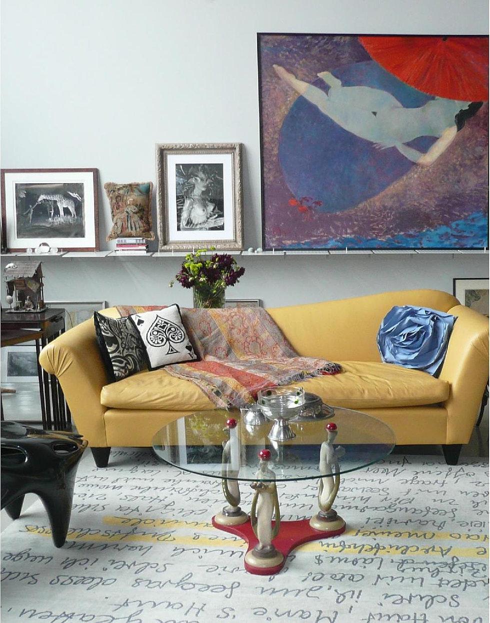 K hartmann design hotel des artiste duplex for Klaus k hotel living room